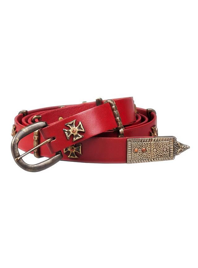 Fine ceinture de «croisé» rouge