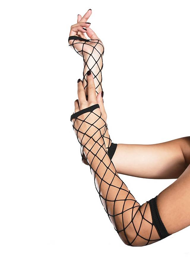 Fingerless Industrial Net Gloves black