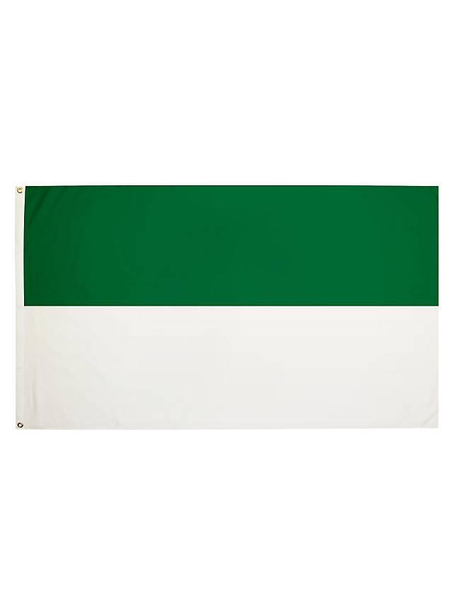 Flagge grün-weiß