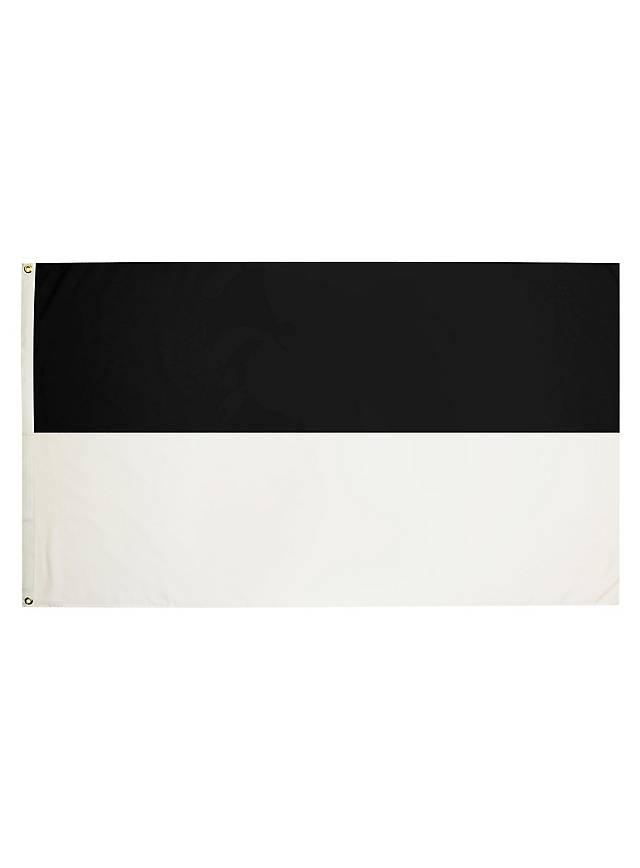 Flagge schwarz-weiß