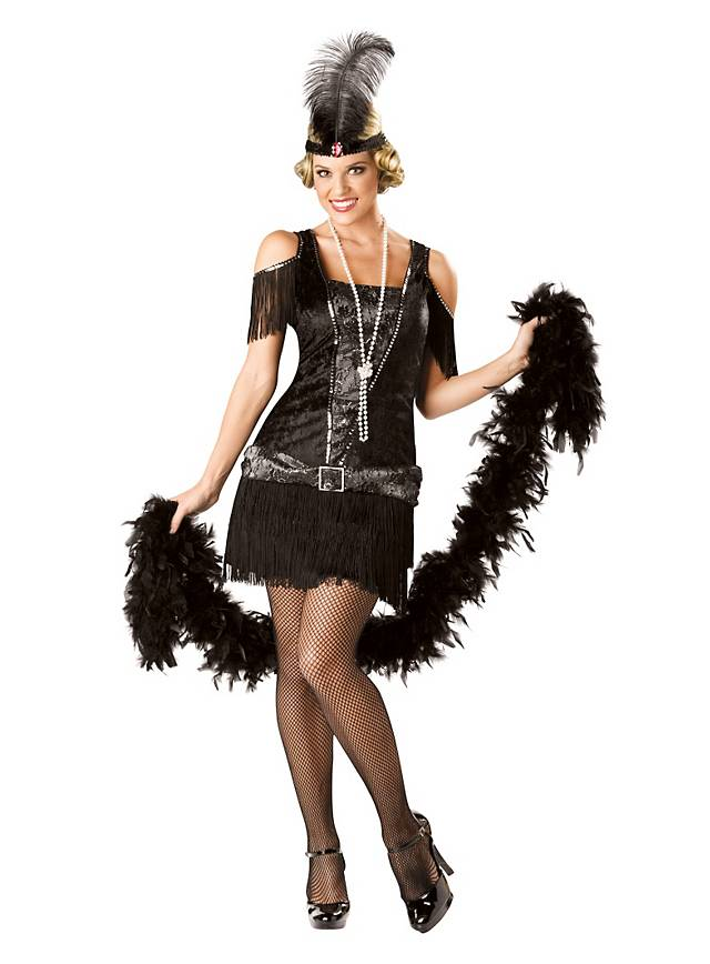 Flapper Girl black Costume