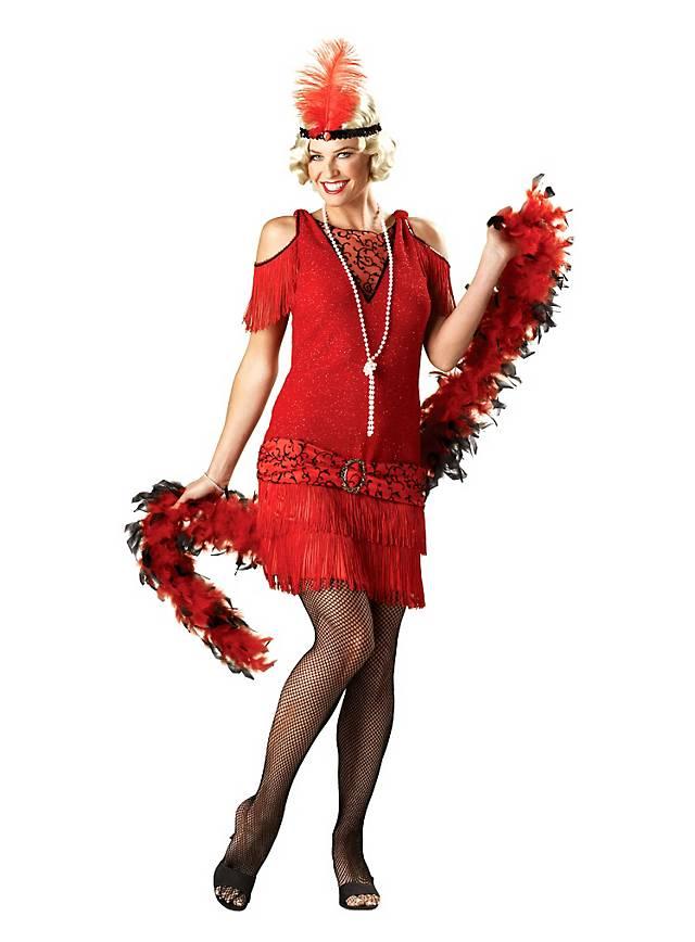 Flapper Girl rouge Déguisement