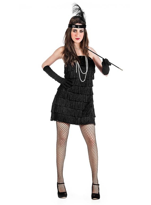 Flapper schwarz Kostüm