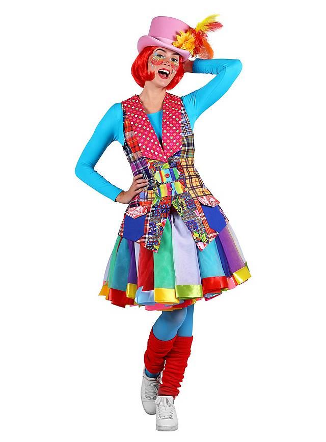 Flickenweste Clown für Damen