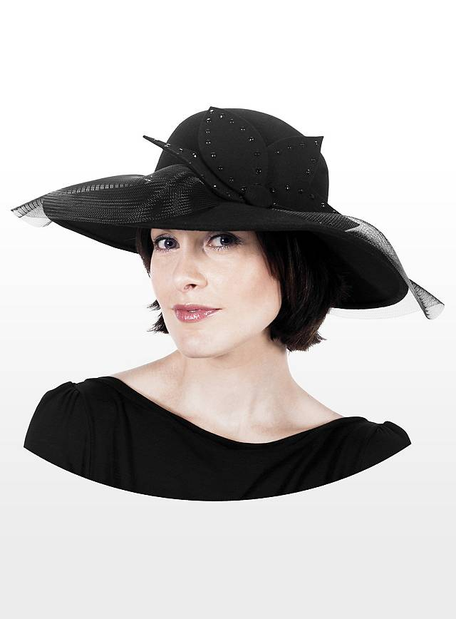 Floppy Hat with Bow black