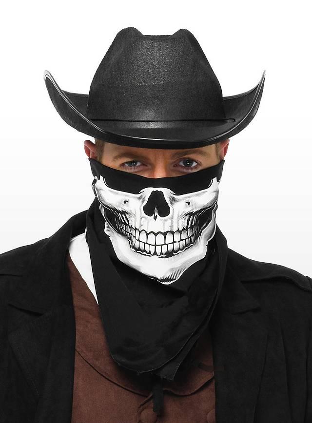 Foulard tête de mort noir et blanc