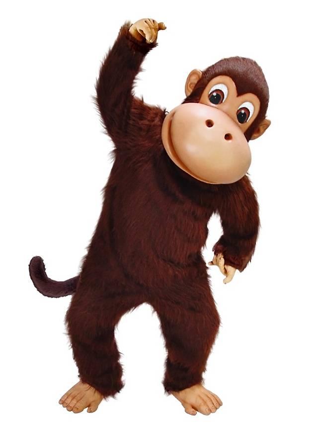 Fröhlicher Affe Maskottchen