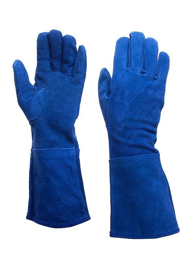 Gants en daim bleu