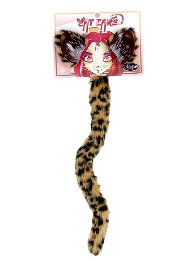 Gefleckte Katze Accessoire Set