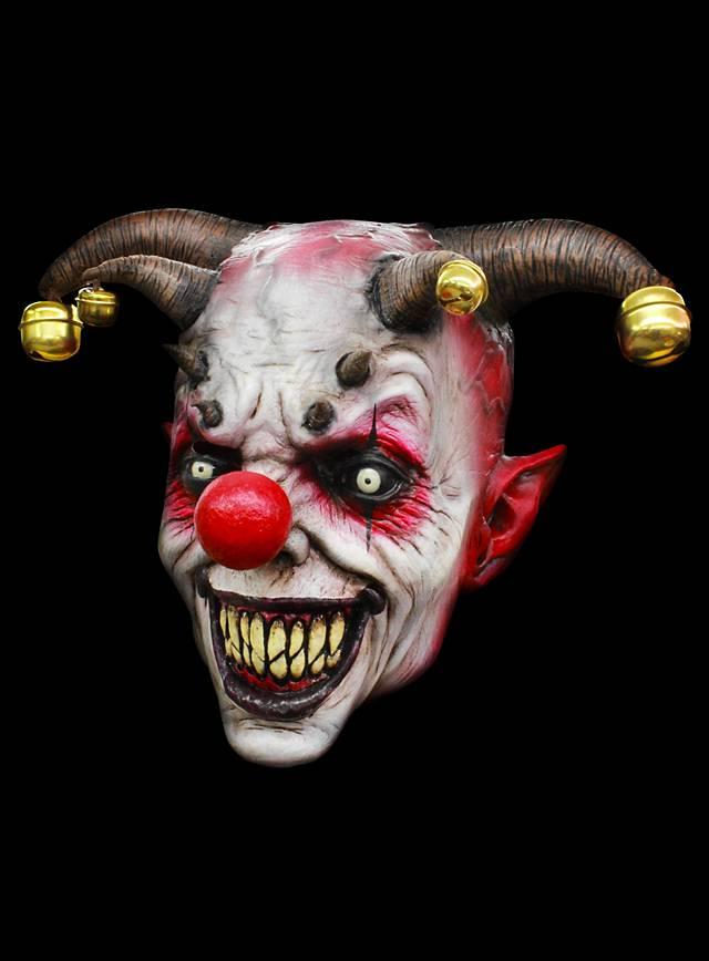Gehörnter Joker Clownsmaske