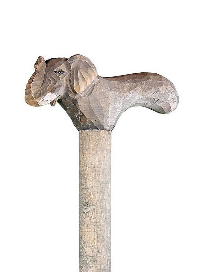 Gehstock aus Holz Elefant