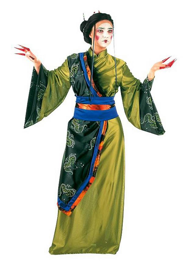 geisha gr n kost m. Black Bedroom Furniture Sets. Home Design Ideas