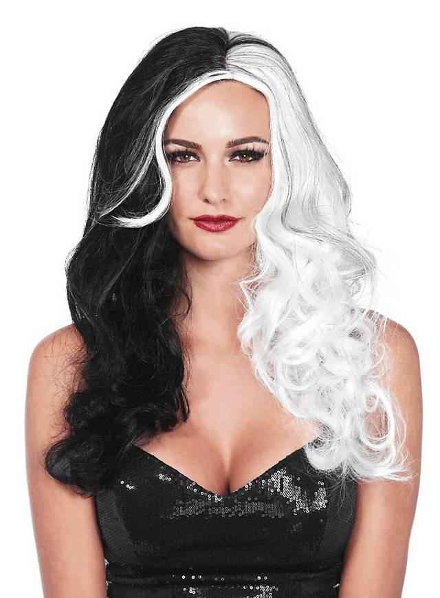 Glamour Perücke schwarz-weiß