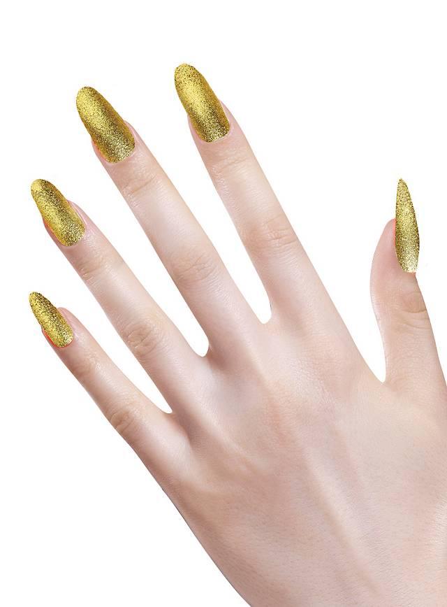 Glitzer Fingernägel gold