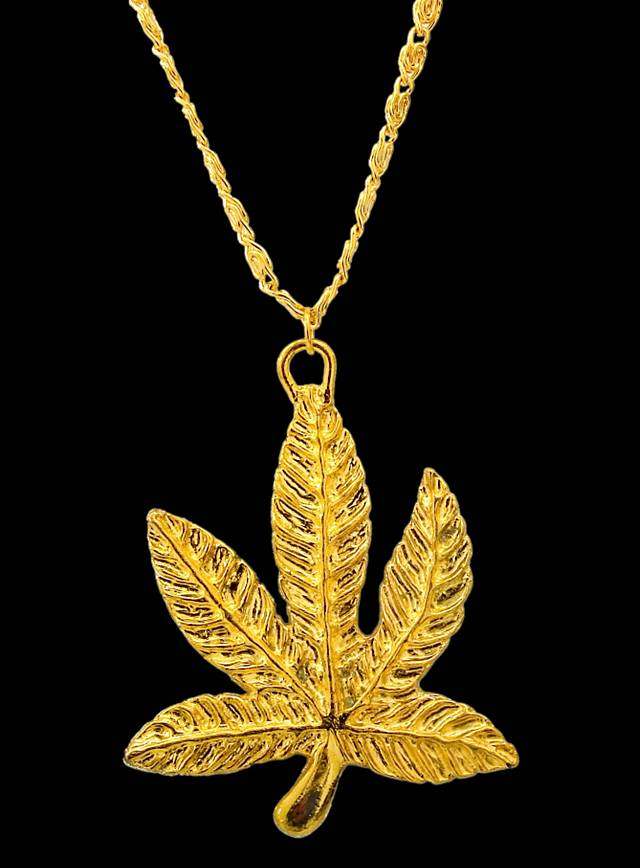 Golden Cannabis Medallion