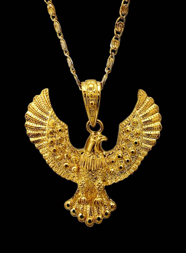 vanessa neck necklace mooney products medallion nouveau eagle cameo vm