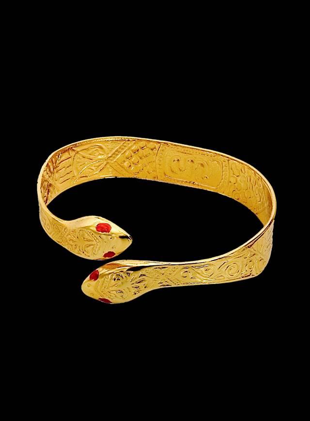 Goldener Schlangen Armreif
