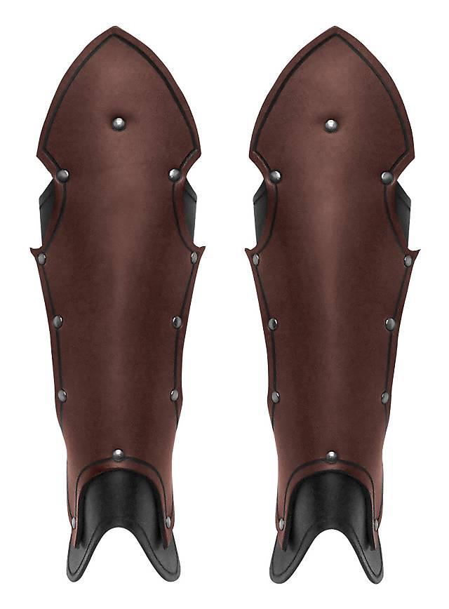 Gotische Beinschienen braun