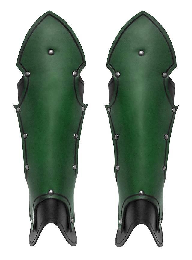 Gotische Beinschienen grün