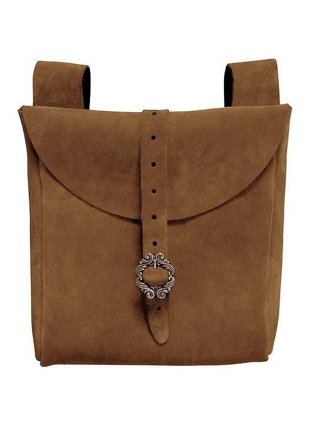 Grande sacoche de ceinture en daim marron clair