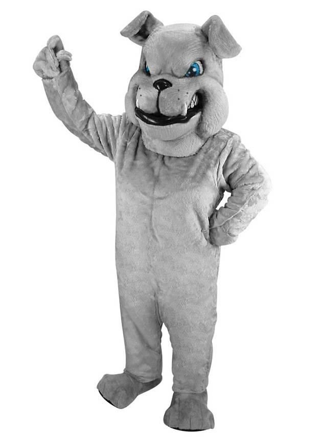 Graue bulldogge maskottchen for Graue dekoartikel