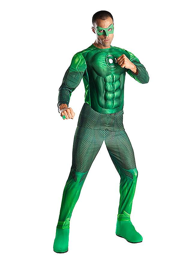 Green Lantern mit Leuchteffekt Kostüm