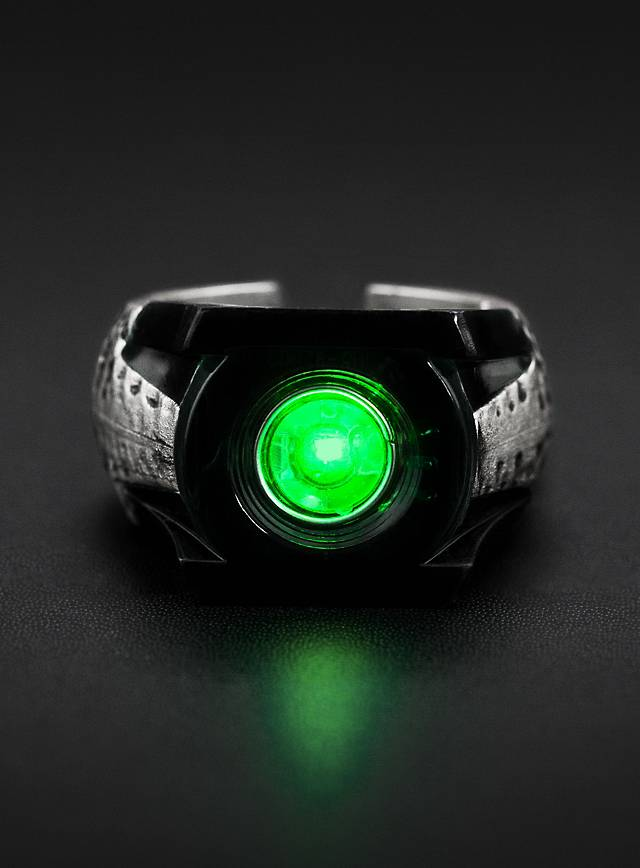 green lantern ring led. Black Bedroom Furniture Sets. Home Design Ideas