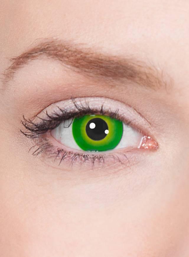 Grüne Kontaktlinsen - Motiv Grüner Mutant