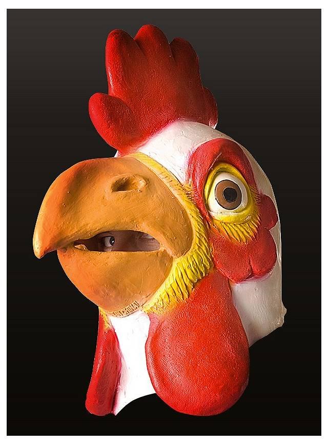 Hahn Maske aus Latex