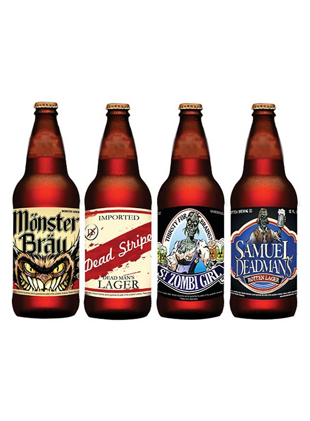 Halloween Bottle Labels Beer