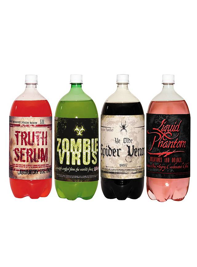 Halloween Bottle Labels Soda