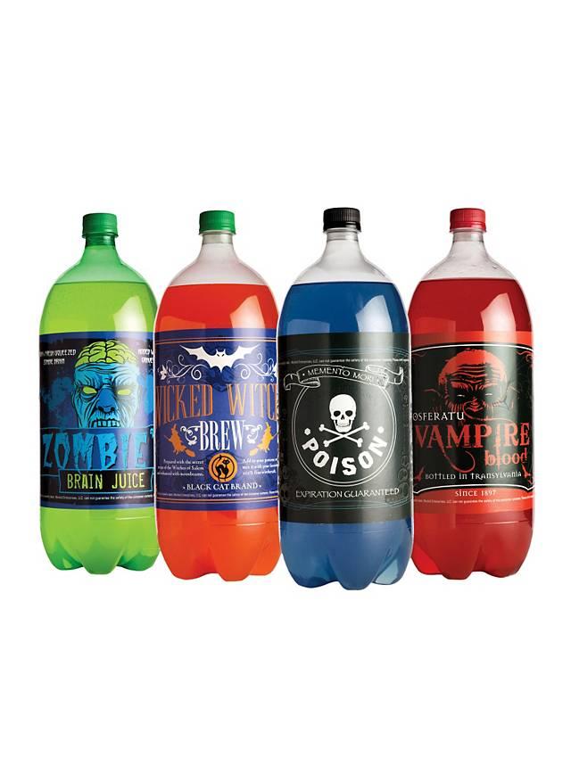 Halloween Bottle Labels Soda Glow-in-the-Dark