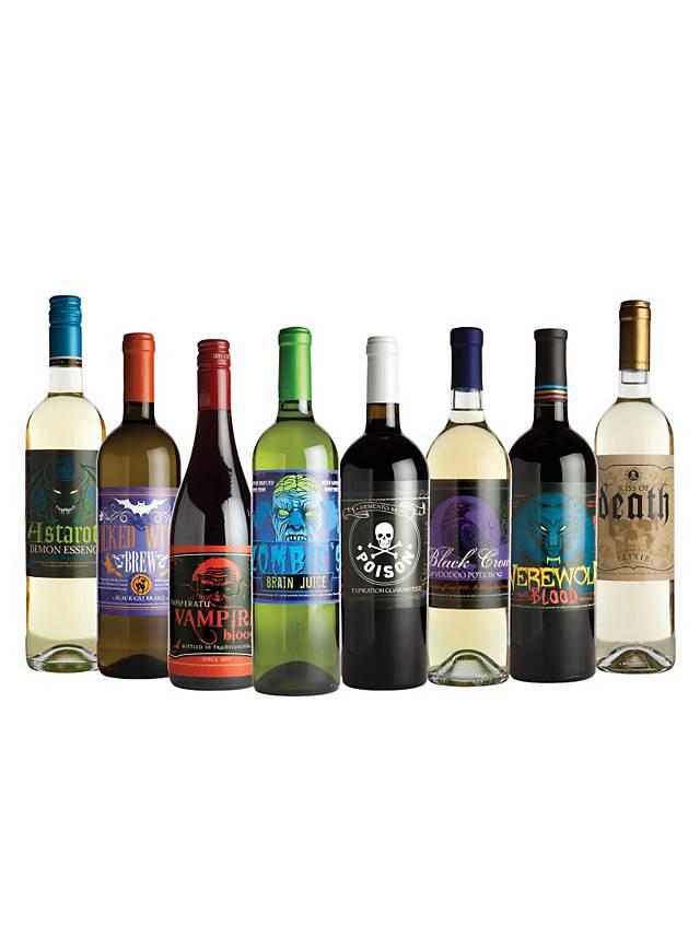 Halloween Bottle Labels Wine Glow-in-the-Dark