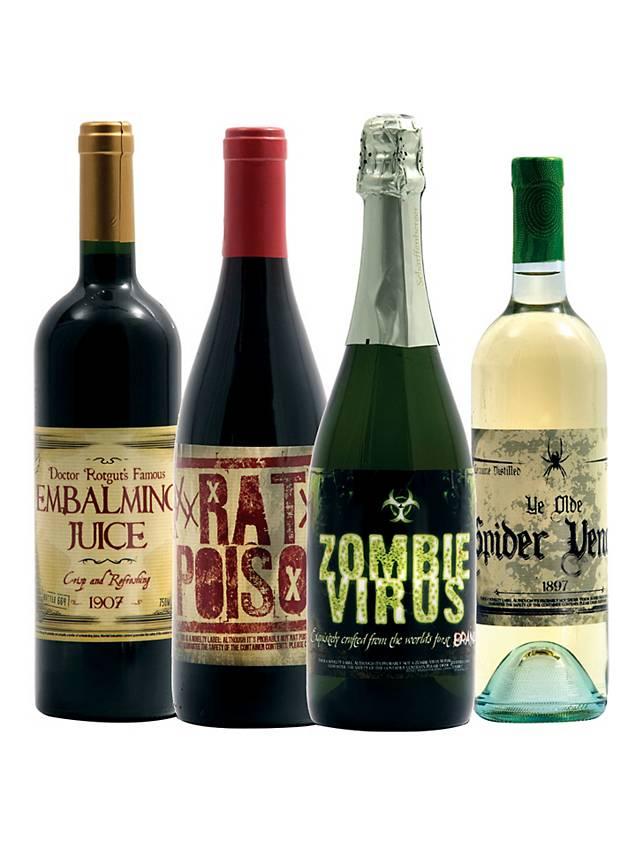 Halloween Flaschenetiketten Wein