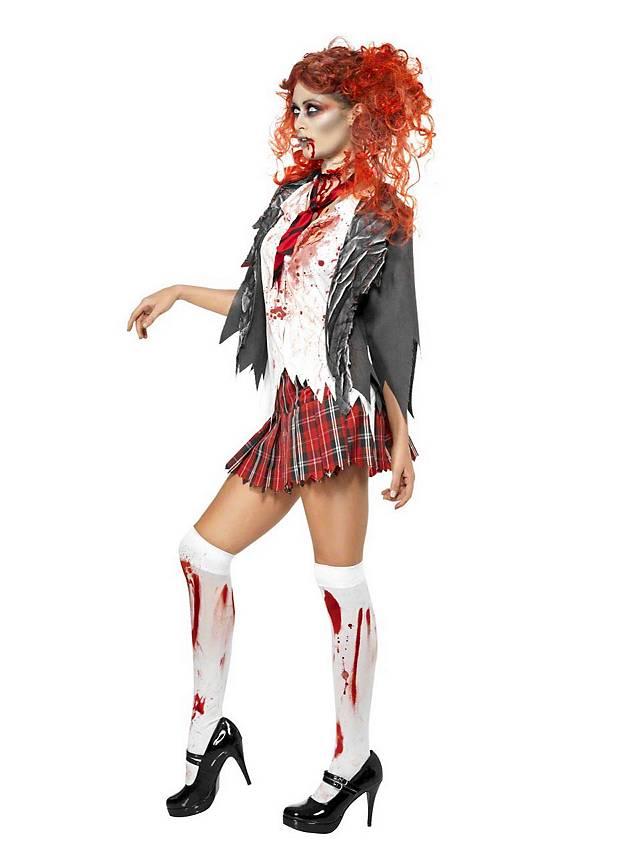 Zombie Schulmädchen Kostüm