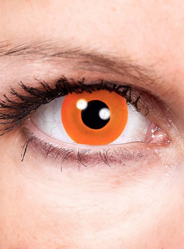 Halloween orange Lentilles de contact