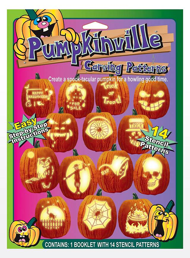 Halloween Pumpkin Face Book with Templates