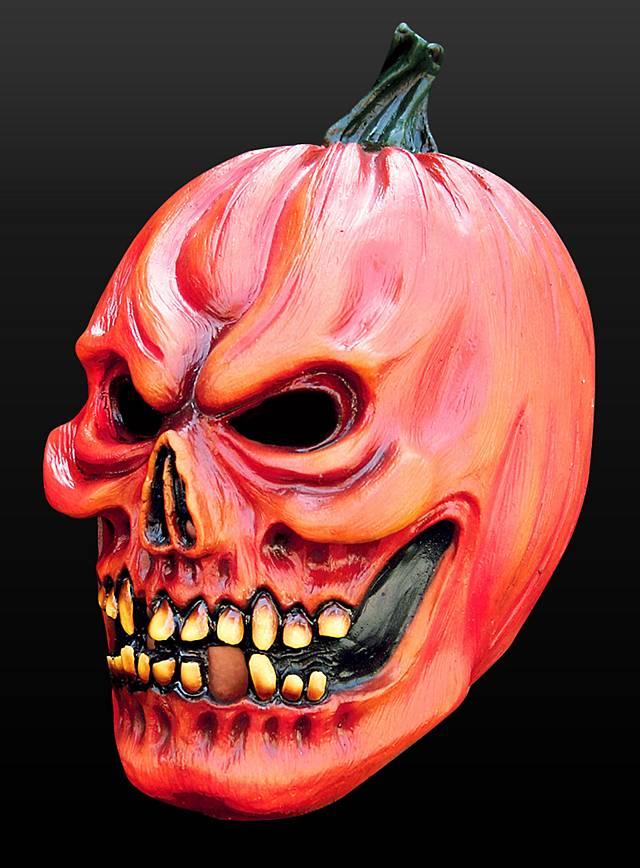 Halloweenkürbis Maske aus Latex