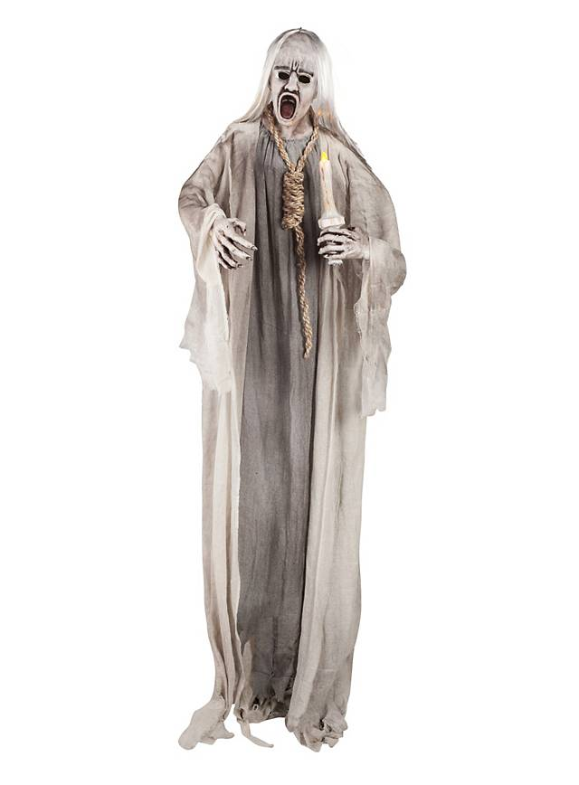 Hanged ghost with candle halloween decoration for Decoration d halloween exterieur