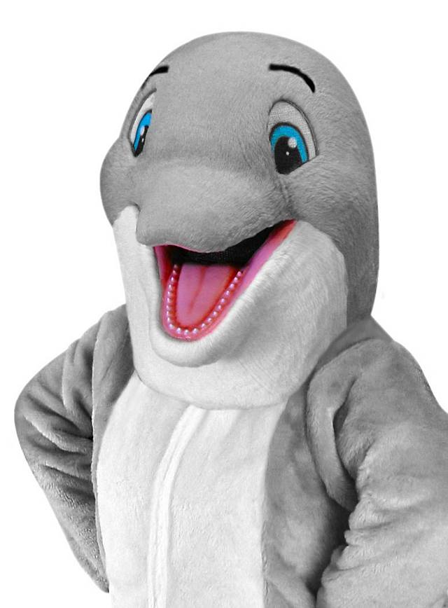 Real Magic Wands Happy Dolphin Mascot -...