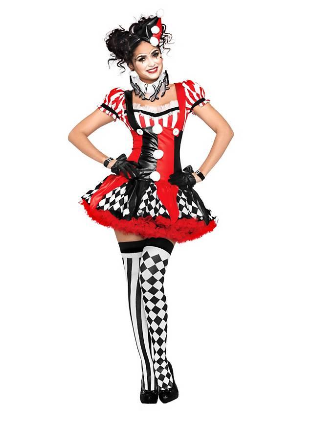 Harlekina Kostüm für die Pantominem Schminkanleitung