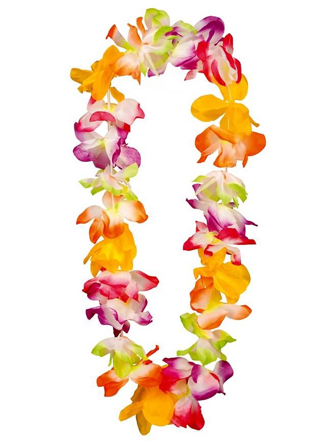 party online buy hawaiian garland oman in original luau necklace necklaces tropical color products lei favors pieces flower