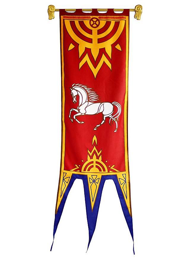 Herr der Ringe Rohan Banner rot