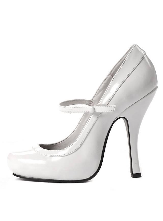 high heels platform shoes white