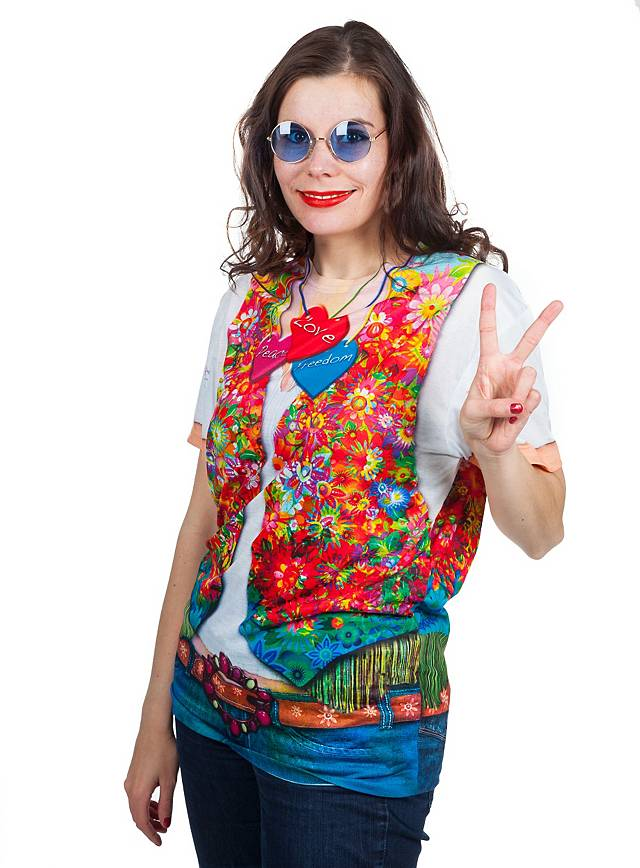 Hippie woman costume t shirt for Costume t shirts online