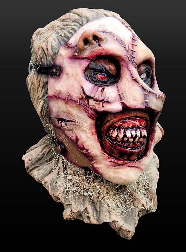 Horror-Vogelscheuche Maske aus Latex