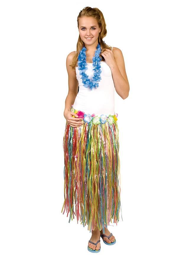 Hula Skirt rainbow Costume