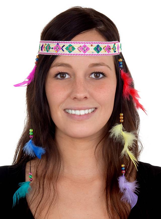 Indian Headband with Feathers