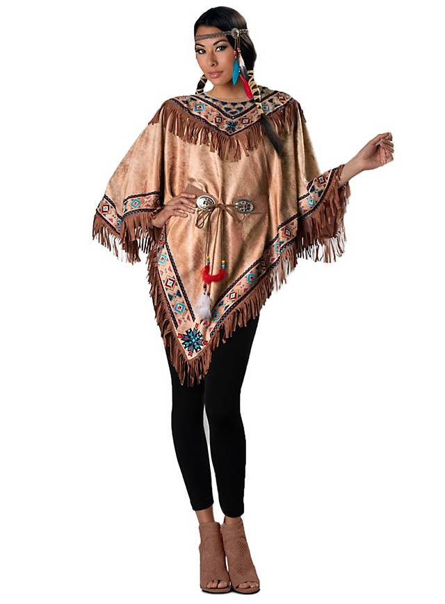 Indianerin Poncho