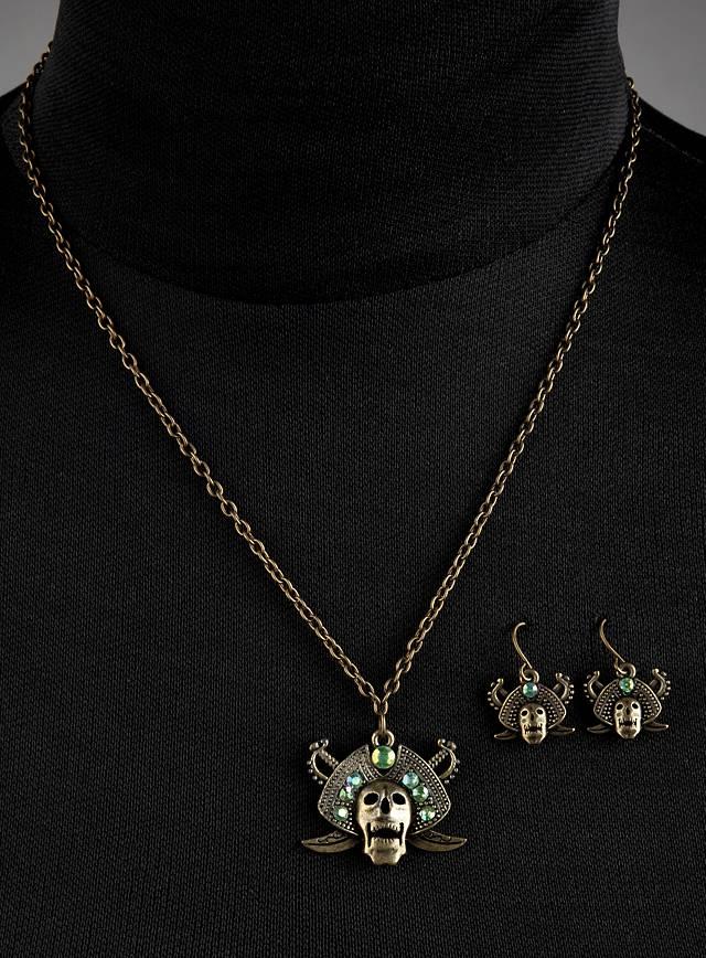 "Jewellery Set ""Cursed Pirates"" green"